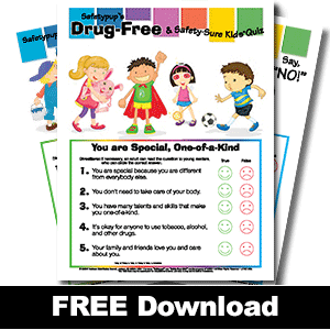 252W: Drug-Free & Safety Sure Kids® Pre-test/Post-test QUIZ Masters