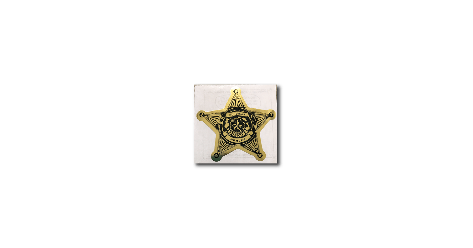 079: Sheriff Honorary Member 5-Point Star