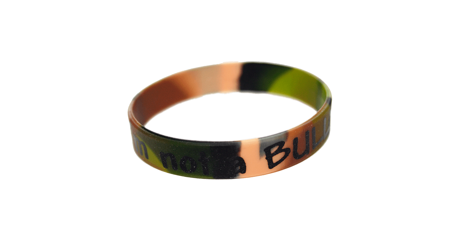 "088: ""I'm not a Bully"" Silica Gel Wristband: Camo"