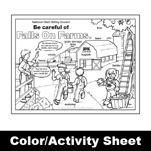 173 falls on farms color activity sheet - Color Activity Sheets