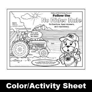 174 no rider rule color activity sheet - Color Activity Sheets