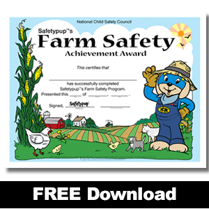 179W: Free Farm Safety Award