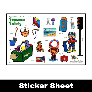 517A: Summer Safety Sticker Sheet