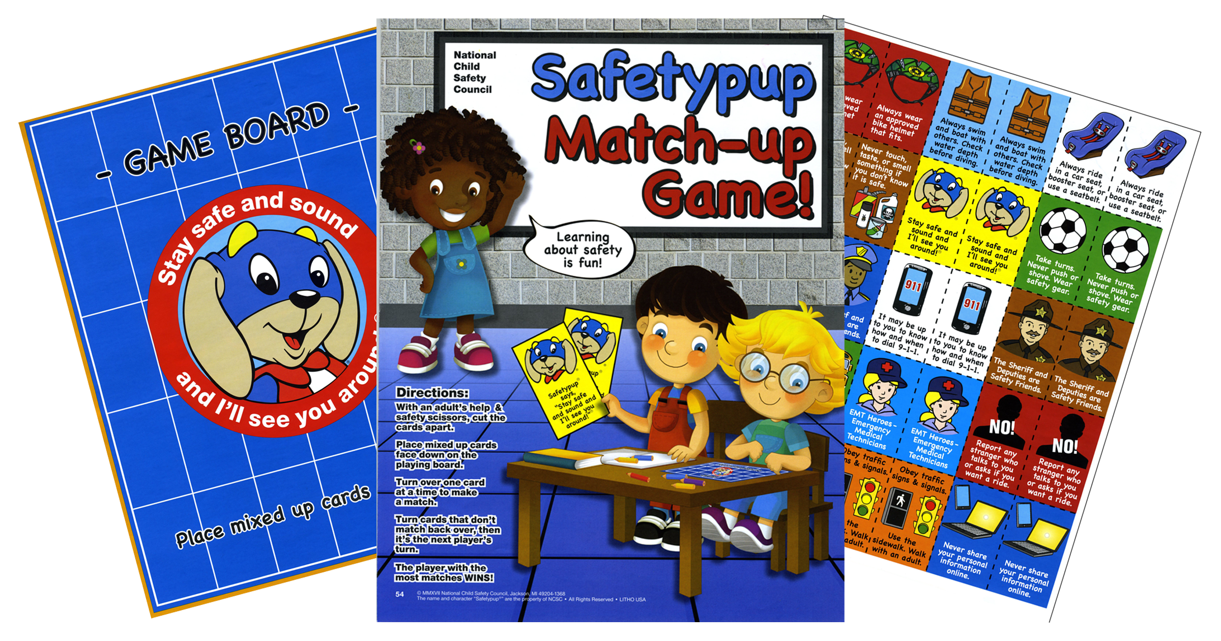 54: Safetypup® Match-Up Game