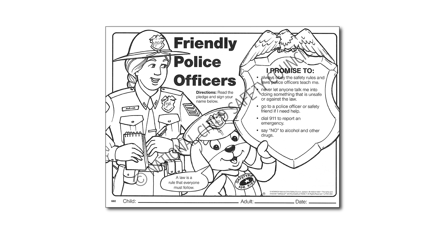 682: Friendly Police Activity Sheet