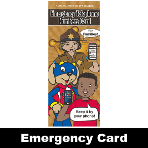 694: Friendly Sheriff Emergency Numbers Card